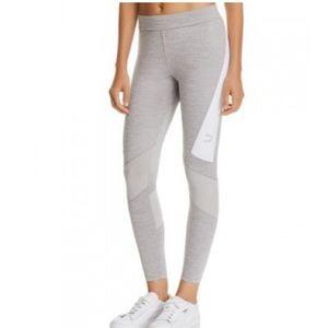 PUMA Logo Mesh-Inset Leggings NWT